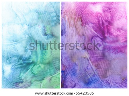 Beautiful watercolor background in soft purple and blue- Great for textures and backgrounds for your projects! - stock photo