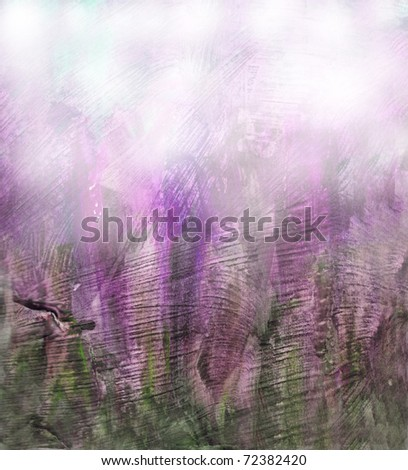 Beautiful watercolor background in soft purple and green- Great for textures and backgrounds for your projects! - stock photo