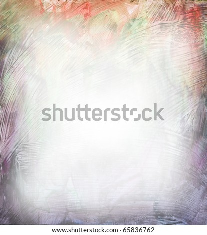 Beautiful watercolor background in soft purple and orange- Great for textures and backgrounds for your projects! - stock photo