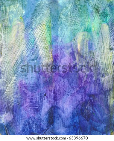 Beautiful watercolor background in soft purple, blue and green- Great for textures and backgrounds for your projects! - stock photo