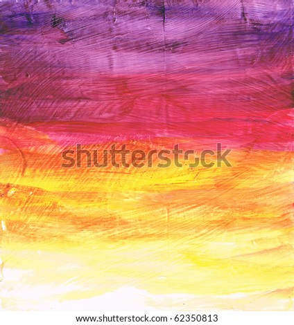 Beautiful watercolor background in soft purple, yellow and magenta- Great for textures and backgrounds for your projects! - stock photo