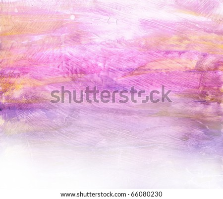 Beautiful watercolor background in soft purple, yellow and white- Great for textures and backgrounds for your projects! - stock photo