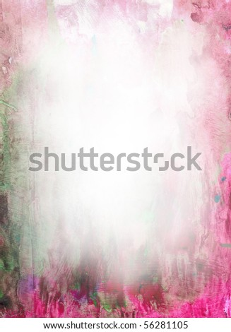 Beautiful watercolor background in soft red and green- Great for textures and backgrounds for your projects! - stock photo