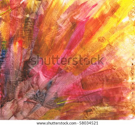 Beautiful watercolor background in soft red, orange and yellow- Great for textures and backgrounds for your projects! - stock photo