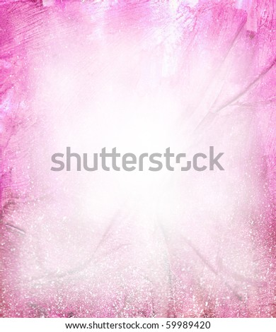 Beautiful watercolor background in soft white and magenta- Great for textures and backgrounds for your projects! - stock photo