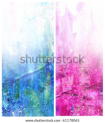 Beautiful watercolor background in soft white, blue and magenta- Great for textures and backgrounds for your projects! - stock photo