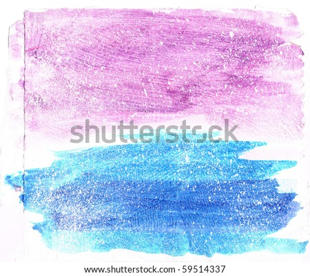 Beautiful watercolor background in soft white, blue and pink- Great for textures and backgrounds for your projects! - stock photo