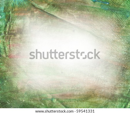 Beautiful watercolor background in soft white, purple and green- Great for textures and backgrounds for your projects! - stock photo
