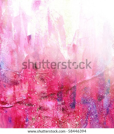 Beautiful watercolor background in soft white, purple and red- Great for textures and backgrounds for your projects! - stock photo