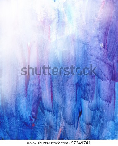 Beautiful watercolor background in vibrant blue and soft purple- Great for textures and backgrounds for your projects! - stock photo