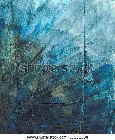 Beautiful watercolor background in vibrant green and blue- Great for textures and backgrounds for your projects! - stock photo