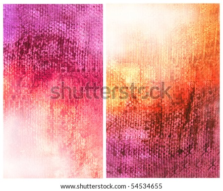 Beautiful watercolor background in vibrant orange and pink- Great for textures and backgrounds for your projects! - stock photo