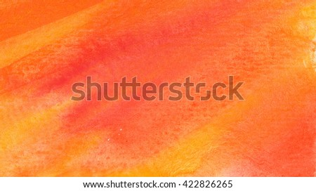Beautiful watercolor background in vibrant orange and yellow. Great for textures and backgrounds for your projects - stock photo