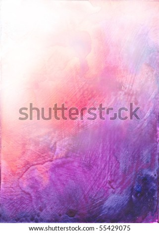 Beautiful watercolor background in vibrant red and purple- Great for textures and backgrounds for your projects! - stock photo