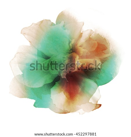 Beautiful watercolor flower