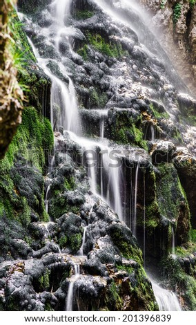 Beautiful waterfall in austrian Alps, Shtiria, Wasserloch