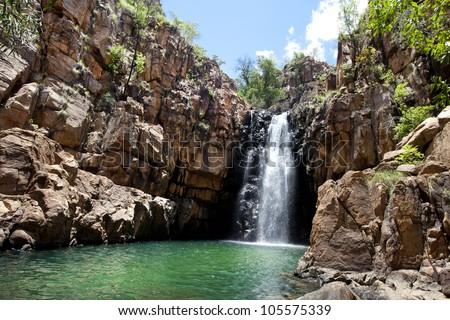 beautiful waterfall in Katherine Gorge, Australia - stock photo
