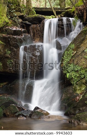 Beautiful waterfall. Long exposure, smooth effect. - stock photo