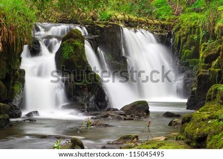 Beautiful waterfall of Clare Glens, Ireland - stock photo