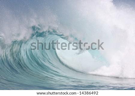 beautiful wave - stock photo
