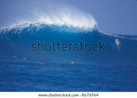 beautiful wave - stock photo