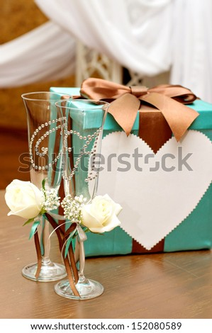 Beautiful wedding accessories - stock photo
