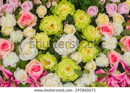 beautiful wedding artificial flower background