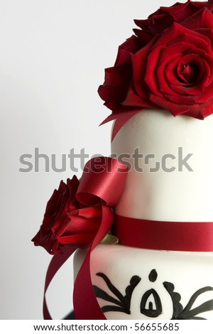 beautiful wedding cake. - stock photo
