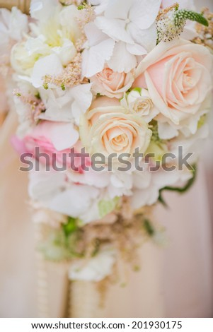 Beautiful wedding decorations - stock photo