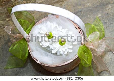 beautiful wedding flowers - stock photo