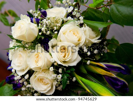 Beautiful wedding flowers - stock photo