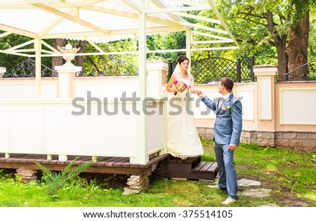 beautiful wedding, husband and wife, lovers man woman, bride and groom