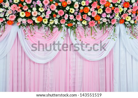 Beautiful wedding scene