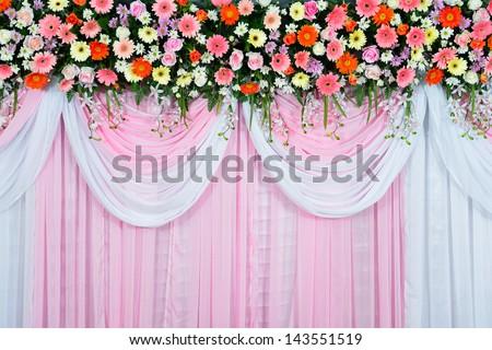 Beautiful wedding scene - stock photo