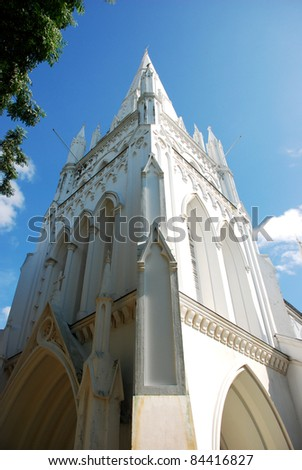 Beautiful White Cathedral - stock photo