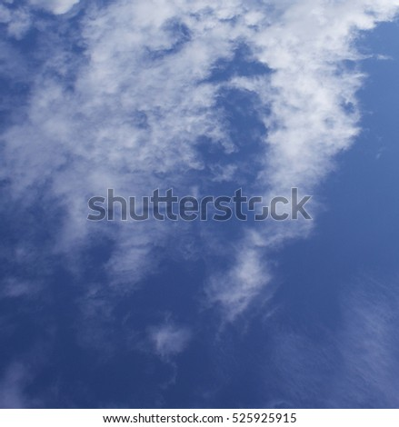 beautiful white clouds on a blue sky background