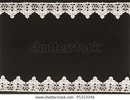 beautiful white lace background - stock photo