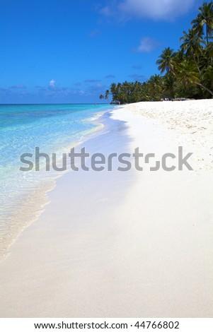 Beautiful White Tropical Beach! - stock photo