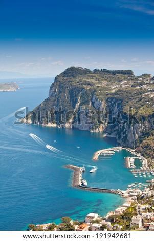 beautiful wiev from Italian Capri island - stock photo