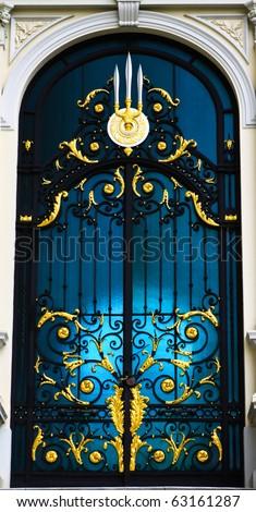 Beautiful window in grand palace,thailand - stock photo