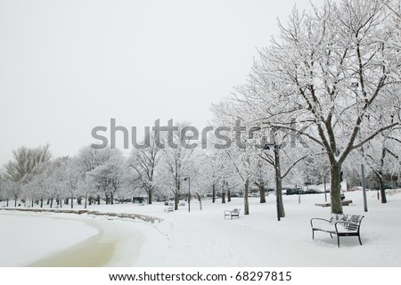 Beautiful winter scenery from Helsinki, Finland - stock photo
