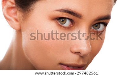 Beautiful  woman closeup . Face beauty - stock photo