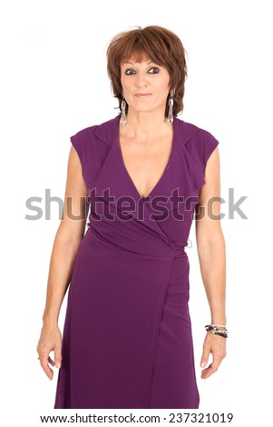 Beautiful woman doing different expressions in different sets of clothes: worried - stock photo