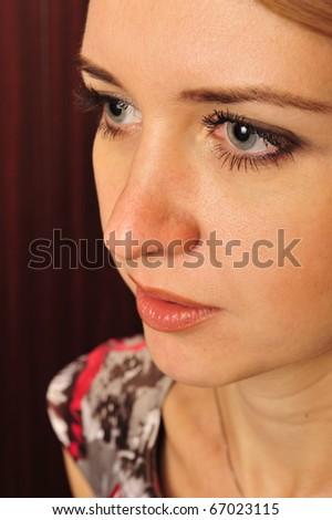 Beautiful Woman. Emotional Photo - stock photo