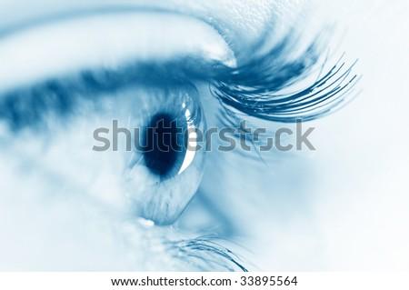 beautiful woman eye - stock photo