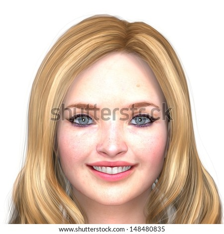 Beautiful Woman Face - stock photo