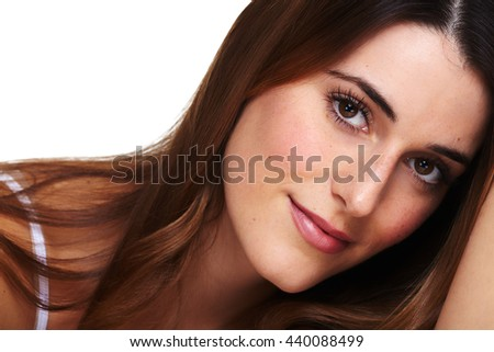 Beautiful woman face.
