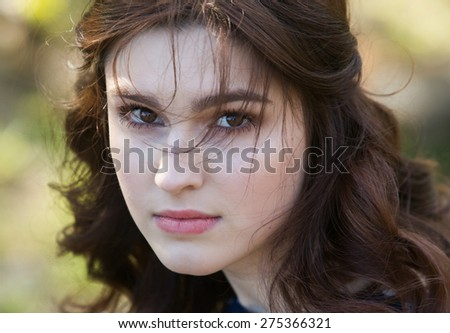 Beautiful woman face closeup