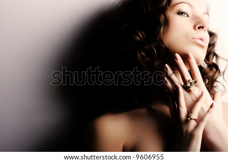 Beautiful woman. Fashion art photo - stock photo