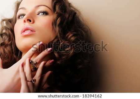 Beautiful woman. Fashion art photo.  Jewelry and Beauty - stock photo